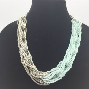 Chunky Seed Bead Link Colorblock Necklace G19